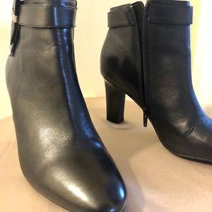 Ralph Lauren Leather Brin Dress Boots Size 8.5
